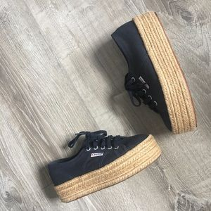 Superga 2790 Espadrille Cotropew Trainers, Navy
